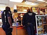 Nypd Photos - Sunday Afternoon at Dunkin Donuts 2 by Sarah Loft