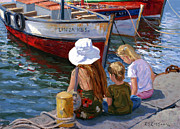 Quayside Prints - Sunday Afternoon Print by Roelof Rossouw