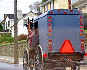 Amish Buggy Photos - Sunday Courting by Debbi Granruth