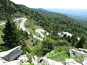 Sunday Drive Prints - Sunday drive up Grandfather Mountain Print by Tim Mangan