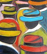 Chapeaux Paintings - Sunday Hat  in Sint Maarten by Patty Meotti