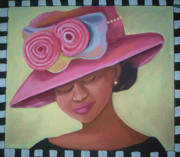 African-american Mixed Media - Sunday Hat by Janie McGee