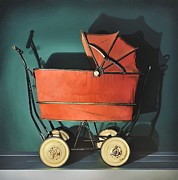 Baby Carriage Paintings - Sunday in the Park by Michael Beck