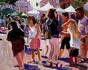 Market Paintings - Sunday Market by Brian Simons