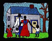 African American Family Prints - Sunday Morning Finest Print by Wayne Potrafka