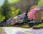 Scenic Drive Paintings - Sunday Morning in Lumberville by Kit Dalton