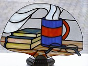 Books Glass Art - Sunday morning by Shelly Reid