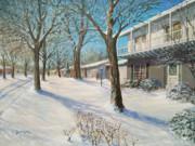 Sunday Morning Snow Print by Edward Farber