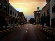 Small Towns Mixed Media Metal Prints - Sunday Sunrise Metal Print by Lj Lambert