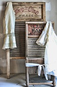 Wash Board Framed Prints - Sundays Best Framed Print by Marcie Adams Eastmans Studio Photography