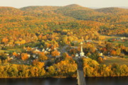 """autumn Foliage New England"" Prints - Sunderland from Mount Sugarloaf Print by John Burk"