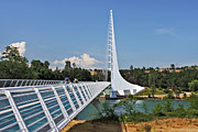 Sacramento Prints - Sundial Bridge - Sit and watch how time passes by Print by Christine Till
