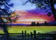 Therese Fowler-bailey Art - Sundown and Quail st Annas by Therese Fowler-Bailey