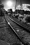 Appleton Photo Metal Prints - Sundown Gleaming Off The Rails Metal Print by Shutter Happens Photography