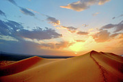 Sand Dune Framed Prints - Sundown On Dune Framed Print by Rodrigo Paz
