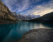 Banff National Park Photos - Sundown On the Rocks by Royce Howland