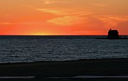 Grand Haven Prints - Sundown Over Lake Michigan Print by Odd Jeppesen