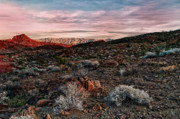 Mountian Prints - Sundown Print by Stephen Campbell