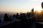 Alhambra De Granada Prints - Sundowners in Granada Print by Rod Jones