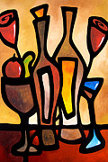 Wine Deco Art Prints - Sundries Print by Tom Fedro - Fidostudio