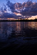 Sunet On Spoon Lake Print by Larry Ricker