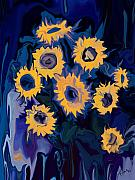 Organic Digital Art Originals - Sunflower 1 by Rabi Khan