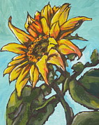 Sunflower Paintings - Sunflower 1 by Sandy Tracey