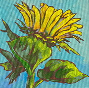 Blooming Painting Originals - Sunflower 2 by Sandy Tracey