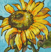 Bloom Painting Originals - Sunflower 3 by Sandy Tracey