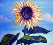 Sunflower Paintings - Sunflower by Alban Dizdari