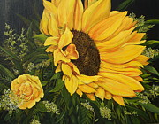 Patricia DeHart - Sunflower and Rose