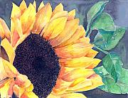 Yellow Flowers Painting Prints - Sunflower Print by Arline Wagner