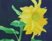 K Joann Russell Art - Sunflower Ballet Original Colorful Art by K Joann Russell