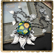 Sterling Silver Art - Sunflower by Beata Sasik