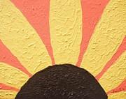 Sunflower Burst Print by Jeannie Atwater Jordan Allen