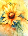 Sunflower Paintings - Sunflower Day by Donna Martin