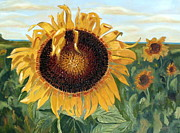 Maria Soto Robbins Art - Sunflower Fields Forever  by Maria Soto Robbins