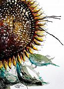 Sunflower Oil Paintings - Sunflower Fish II by J Vincent Scarpace