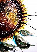 Sunflower Oil Paintings - Sunflower Fish Prototype by J Vincent Scarpace