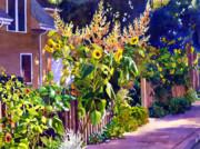 Sunflower Garden Print by Marguerite Chadwick-Juner