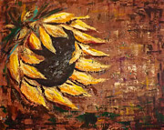 Floral Prints Painting Posters - Sunflower Poster by Gina De Gorna