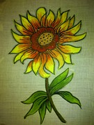 Sunflowers Tapestries - Textiles - Sunflower by Mareena George