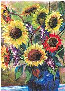 Flowers Pastels - Sunflower Medley by Grace Goodson