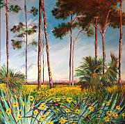 Palmettos Prints - Sunflower Revival Print by Michele Hollister - for Nancy Asbell