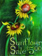 Sad Pastels Originals - Sunflower Sale by Sherlyn Andersen