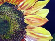 Maria Soto Robbins Prints - Sunflower Single Print by Maria Soto Robbins