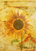 Northwest Art Posters - Sunflower World Poster by Cathie Tyler