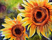 Sunflower Paintings - Sunflowers 2 by Susan Jenkins
