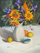 Casual Originals - Sunflowers and Iris by Judy Crowe