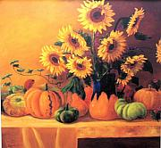 Jeanene Stein - Sunflowers and Squash